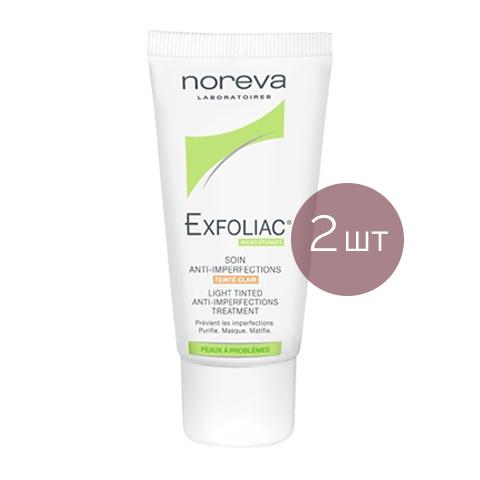 Норева Эксфолиак Тональный крем для проблемной кожи светлый (2 штуки) (Noreva)