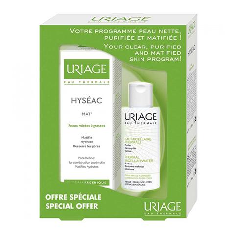 Урьяж Набор для комбинированной и жирной кожи (2 средства) (Uriage)