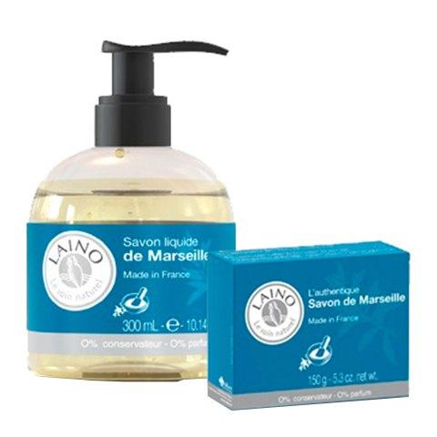 Лено Набор Марсльское мыло (2 средства): фото, цены, описание товара, отзывы и наличие в Москве и Санкт-Петербурге