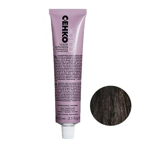 C:EHKO Крем-краска Color Explosion для волос 3/00 Темно-коричневый (седина) (60 мл, 3 Темный шатен): фото, цены, описание товара, отзывы и наличие в Москве и Санкт-Петербурге