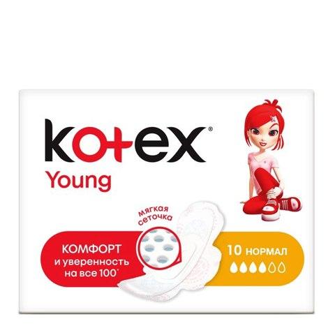 Kotex Young Нормал Прокладки N10 (Упаковка 10 шт): фото, цены, описание товара, отзывы и наличие в Москве и Санкт-Петербурге