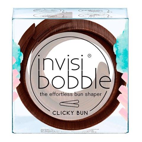 Invisibobble Заколка для пучка Clicky Bun Pretzel Brown коричневая (Упаковка 1 шт.): фото, цены, описание товара, отзывы и наличие в Москве и Санкт-Петербурге