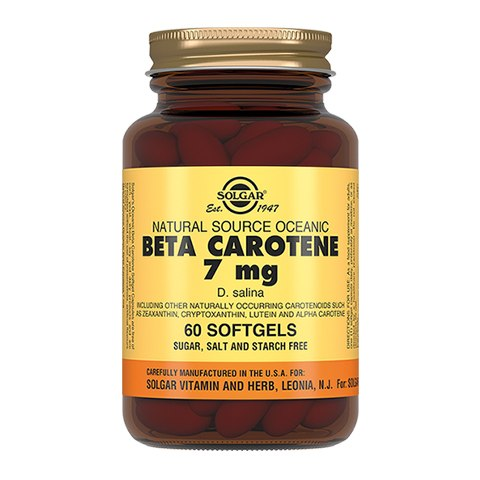 Солгар Бета каротин 7 мг (60 капсул)