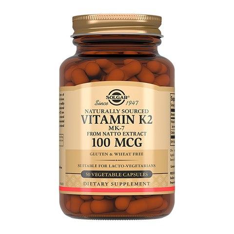 Солгар Витамин К2 100 мкг (50 капсул)