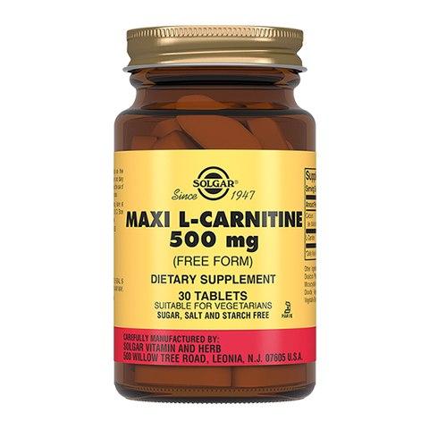 Солгар L-карнитин 500 мг (30 таблеток)