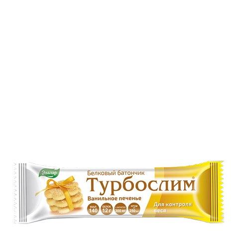 Турбослим Батончик белковый Ванильное печенье (50 г): фото, цены, описание товара, отзывы и наличие в Москве и Санкт-Петербурге