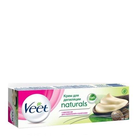 Veet Naturals Крем для депиляции с маслом ши (Туба 90 мл): фото, цены, описание товара, отзывы и наличие в Москве и Санкт-Петербурге
