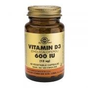 Солгар Витамин D3 600 МЕ (Банка 60 капсул): фото, цены, описание товара, отзывы и наличие в Москве и Санкт-Петербурге