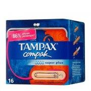 Tampax Тампоны Compak Super Plus с аппликатором N16: фото, цены, описание товара, отзывы и наличие в Москве и Санкт-Петербурге