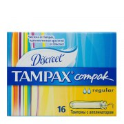 Tampax Тампоны Compak Regular с аппликатором N16: фото, цены, описание товара, отзывы и наличие в Москве и Санкт-Петербурге