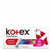 Kotex Супер Тампоны N16 (Упаковка 16 шт.): фото, цены, описание товара, отзывы и наличие в Москве и Санкт-Петербурге