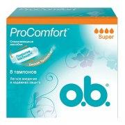 o.b. Тампоны Procomfort Super N8: фото, цены, описание товара, отзывы и наличие в Москве и Санкт-Петербурге