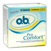 o.b. Тампоны Procomfort Normal N8: фото, цены, описание товара, отзывы и наличие в Москве и Санкт-Петербурге