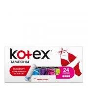 Kotex Супер Тампоны N24 (Упаковка 24 шт.): фото, цены, описание товара, отзывы и наличие в Москве и Санкт-Петербурге