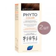 Фито Фитоколор Краска для волос 6.77 (2 штуки): фото, цены, описание товара, отзывы и наличие в Москве и Санкт-Петербурге