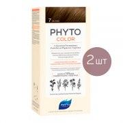 Фито Фитоколор Краска для волос 7 (2 штуки): фото, цены, описание товара, отзывы и наличие в Москве и Санкт-Петербурге